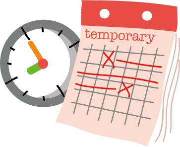 過渡性的以活動假⽛提供暫時性的功能